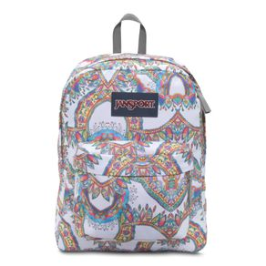 Mochila-SuperBreak-Branca-Estampada---JanSport
