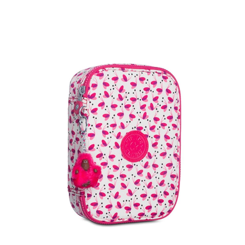 40089d346 Estojo Escolar 100 Pens Branco e Rosa | Kipling - allbags