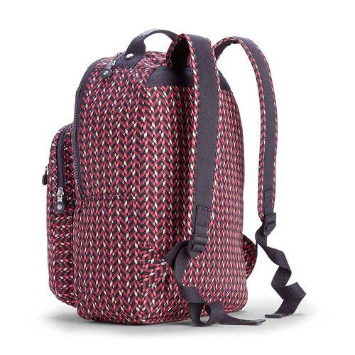bfb0ae71445 Mochila Escolar Clas Seoul Pink Chevron Kipling - allbags