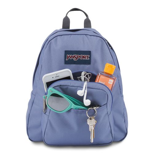 70391b410 Mini Mochila Half Pint Azul Jeans | JanSport - allbags