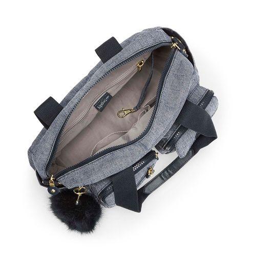 0049f67f0 Bolsa Transversal Defea Cinza Cotton Jeans | Kipling - allbags