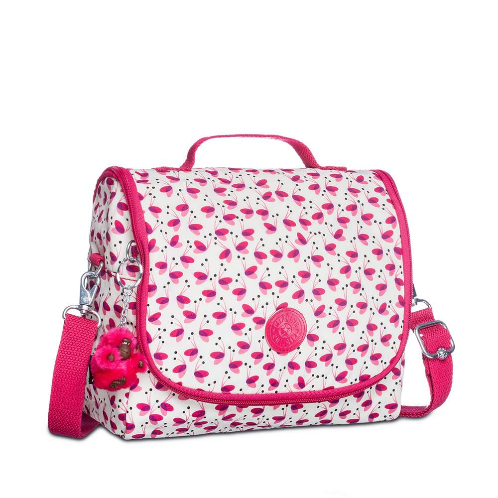 967e04def Lancheira Escolar New Kichirou Branca e Rosa | Kipling - allbags