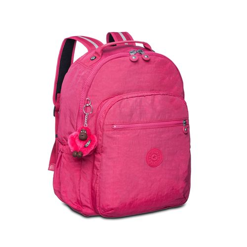7ba330494 Mochila Escolar Seoul Up Rosa Cerise Pink Kipling - allbags