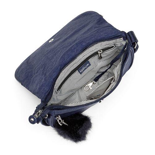 a1dac3aee Bolsa Transversal Earthbeat S Azul Spark Night | Kipling - allbags