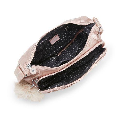 f6559f5d2 Bolsa Transversal Cai Rosa Metallic Blush | Kipling - allbags