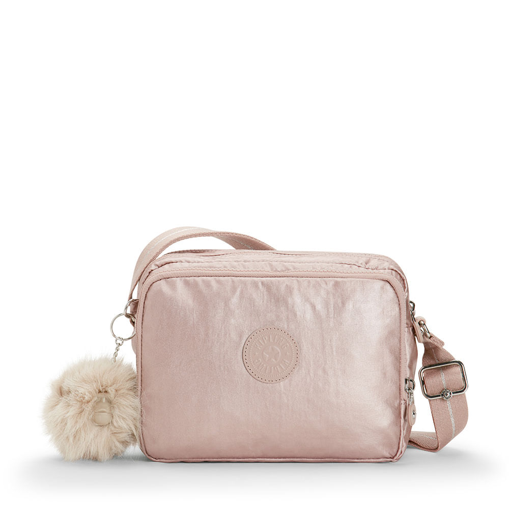 56a09355a Bolsa Transversal Silen Rosa Metallic Blusj | Kipling - allbags