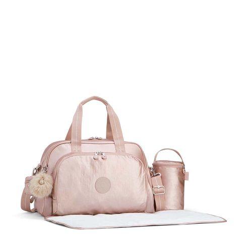 376160ed4 Bolsa Maternidade Camama Rosa Metallic Blush | Kipling - allbags