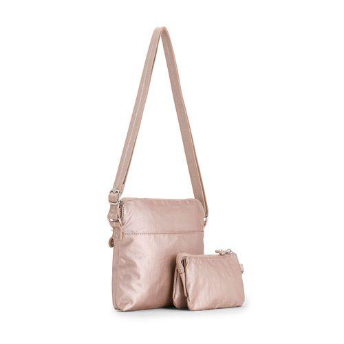 ba1d47d1b Bolsa Transversal Foxwell Duo Rosa Metallic Blush | Kipling - allbags