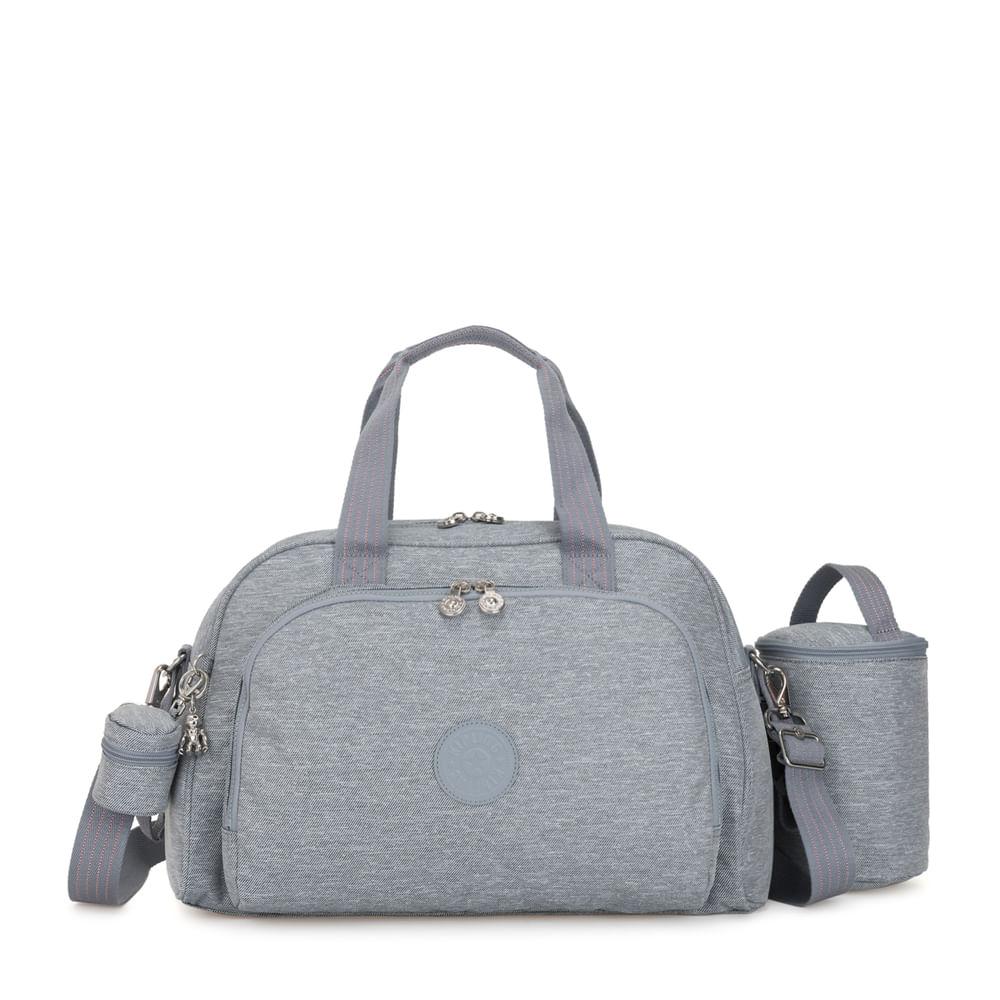 37cf00f7e Bolsa Maternidade Camama Cinza Cool Denim | Kipling - allbags