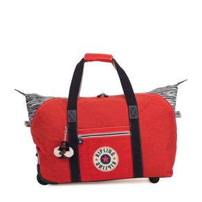 714e7f165 Bolsa de Viagem Art on Wheels M Vermelha Active Red Bl Kipling